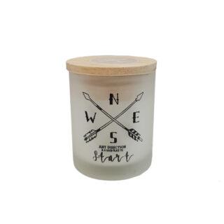 Κερί σε ποτήρι με σχέδιο τόξο