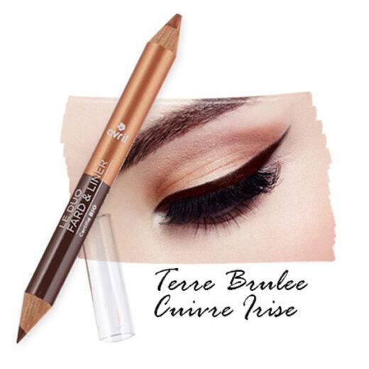 """Σκιά & Μολύβι ματιών 2 σε 1 """"Terre Brûlée- Cuivre Irisé"""""""